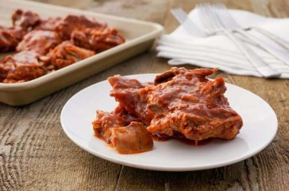 Simple 3 Ingredient Oven Baked BBQ Riblets