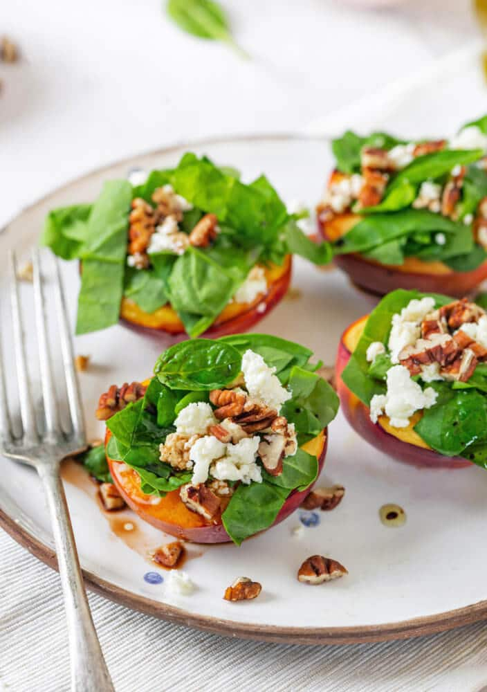 Baked Nectarine Salad with Greens