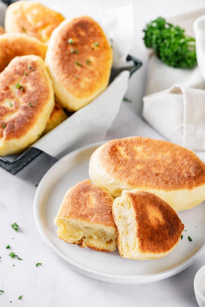 piroshki with potatoes
