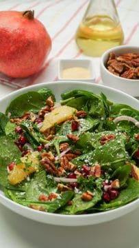 Winter Pomegranate Salad with Apple Cider Vinaigrette