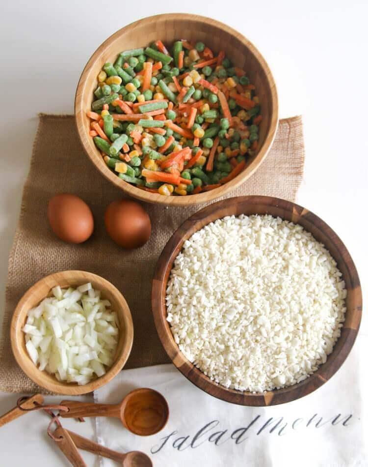 Healthy Fried Cauliflower Rice with Veggies
