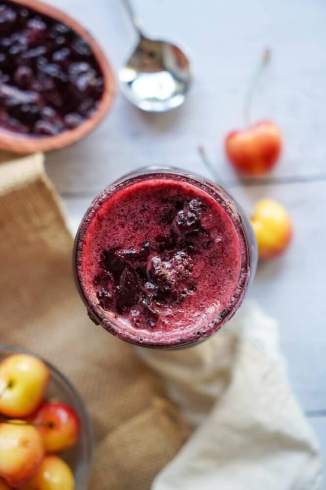 marinascookbook homemade sugarfree sweet cherry jam 1 667x1000