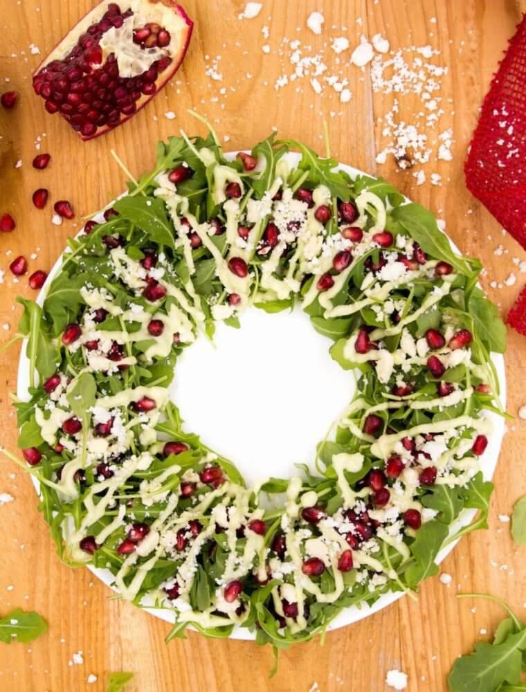 saladmenu christmas wreath salad with avocado dressing 760x1000