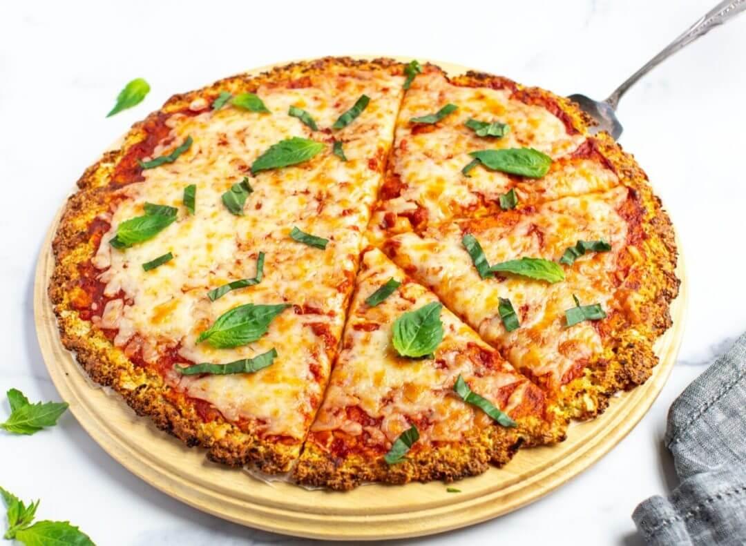 Cauliflower Crust Veggie Pizza 8