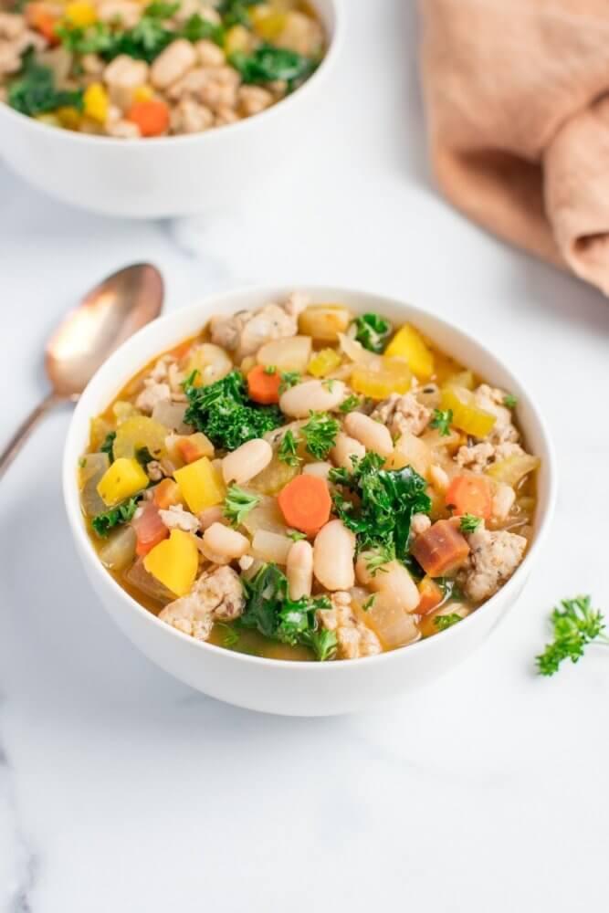Kale Sausage and White Bean Soup