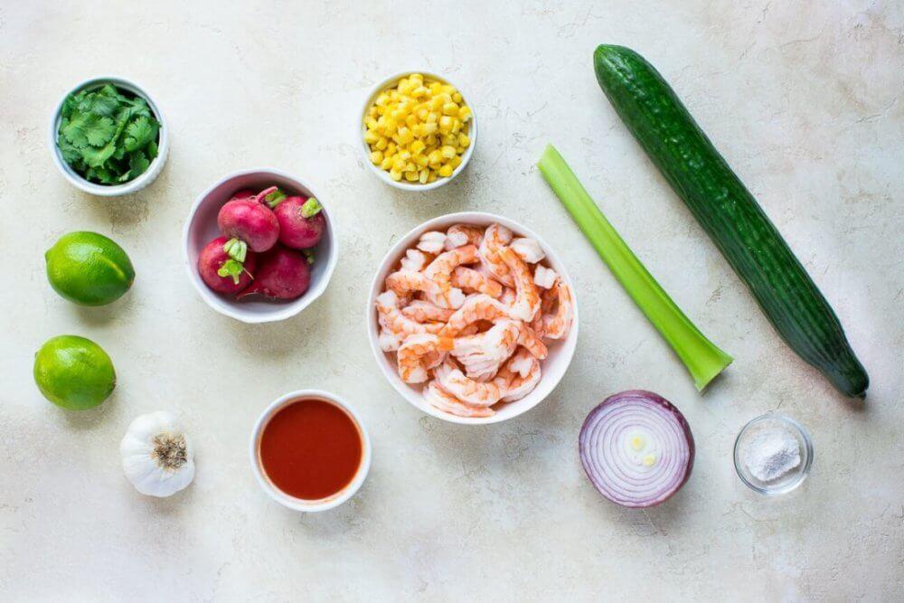 Mexican Shrimp Cocktail Appetizer