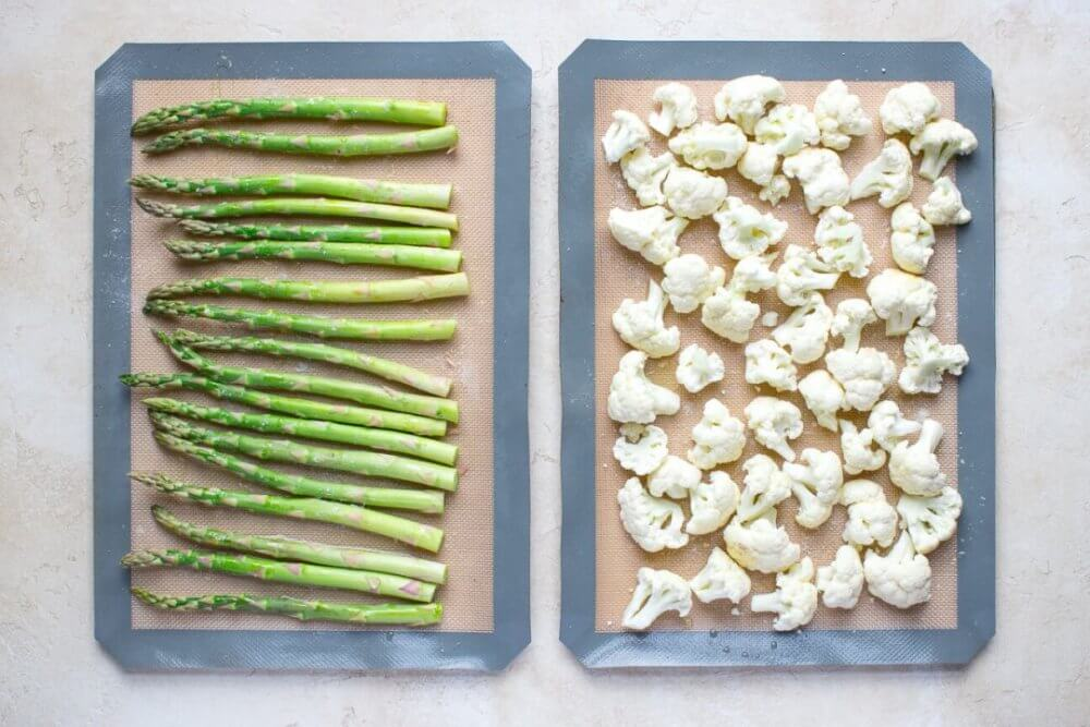 Keto Friendly Roasted Cauliflower and Asparagus Soup
