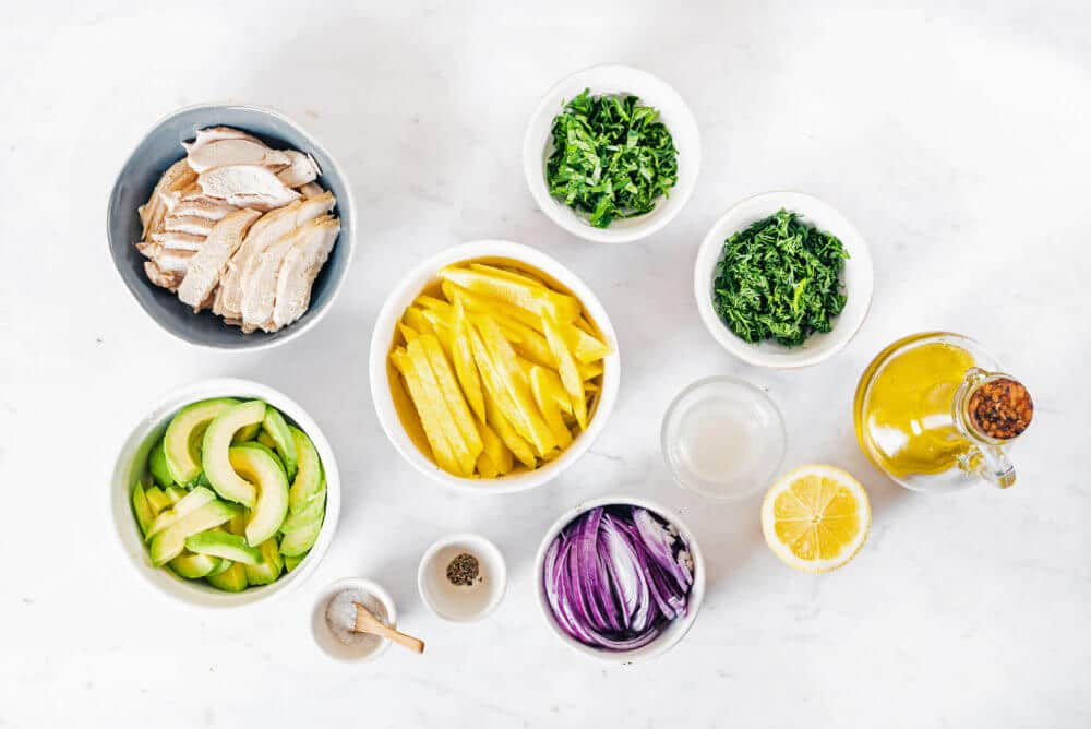 Easy Avocado and Chicken Salad with Mango