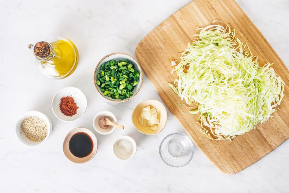 Cabbage Salad Korean Style with an Easy Dressing