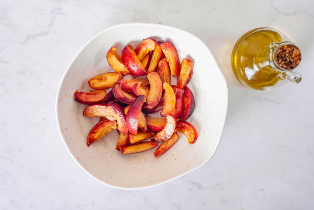 Grilled Peaches Kale Salad