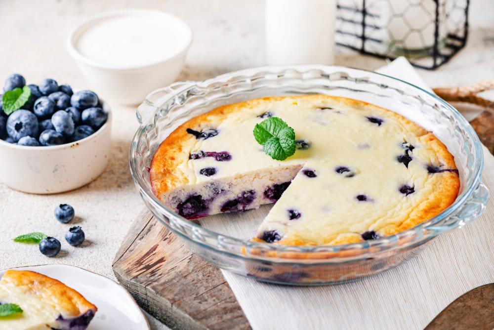 Farmers Cheese Easy Blueberry Breakfast Casserole