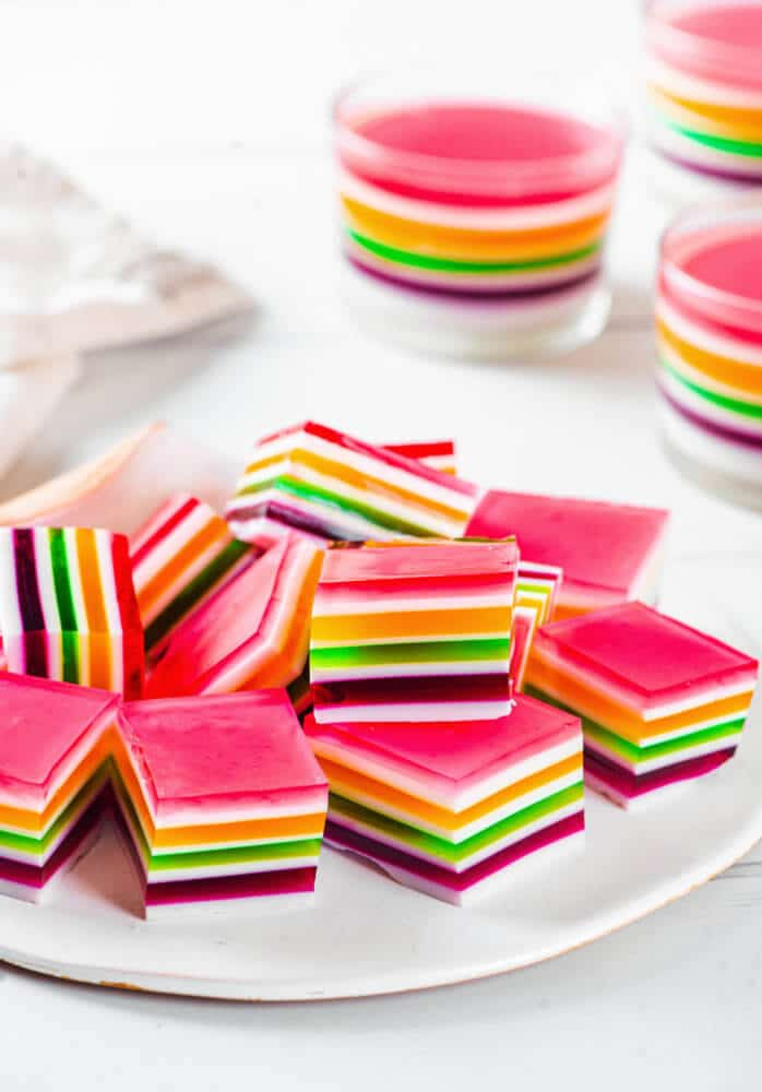 Simple and Colorful Layered Jello