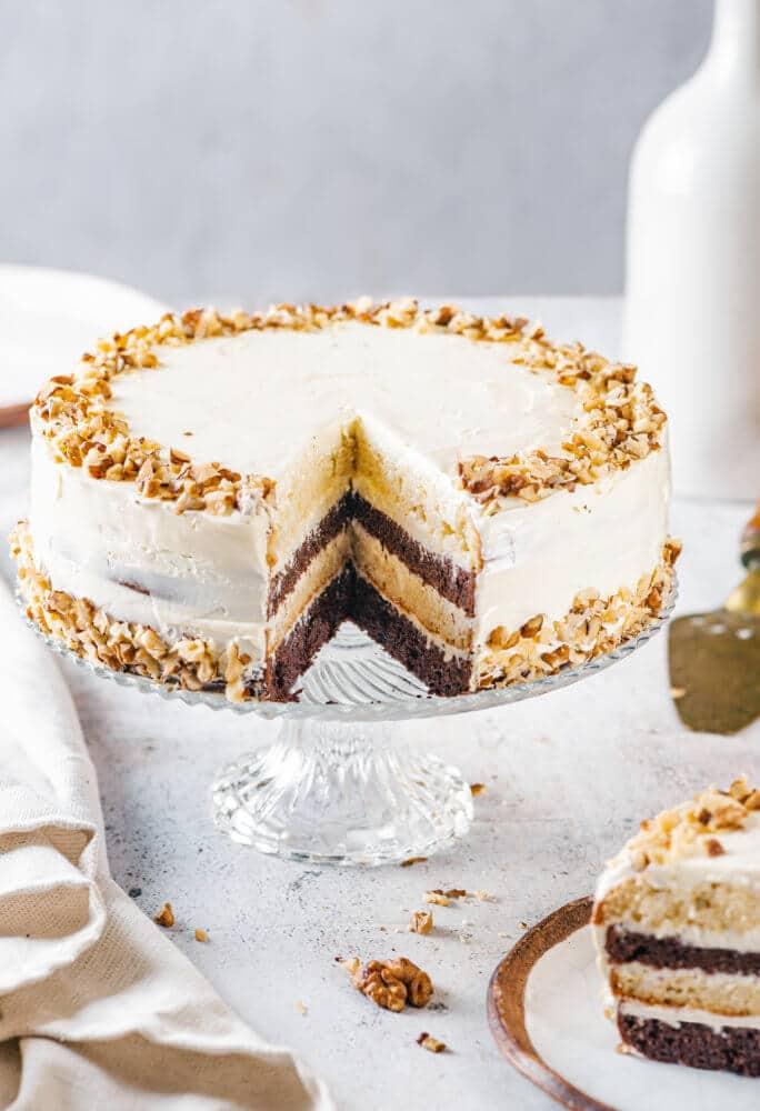 Zebra Cake with Easy Cream