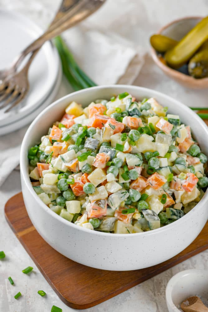 Simple and Classic Olivier Salad