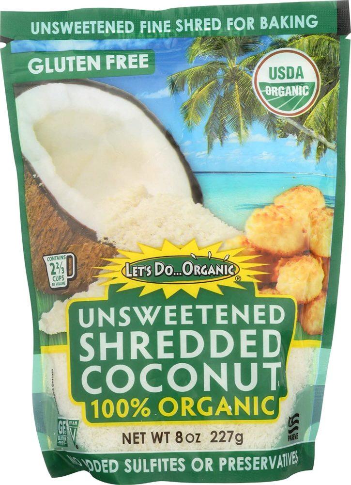 shredded coconut ingredient